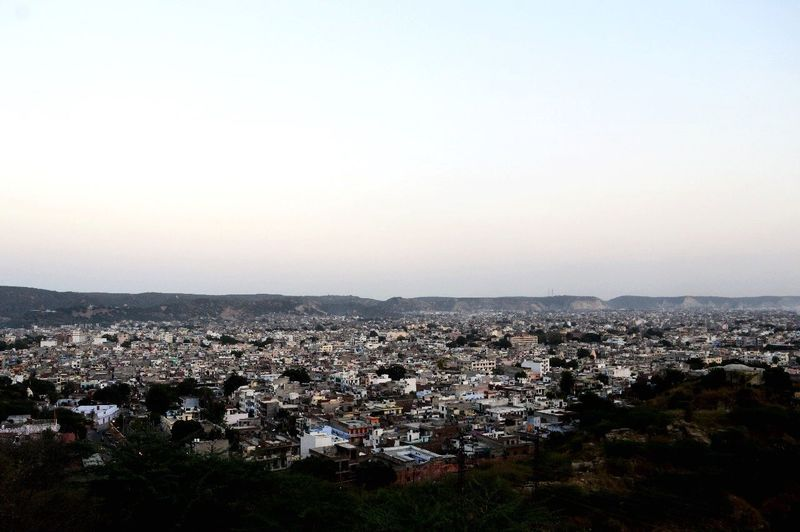 Rajasthan India Jaipur City Building Exterior Architecture Built Structure Sky Cityscape Residential District High Angle View Clear Sky City Life Sunset TOWNSCAPE Outdoors The Architect - 2018 EyeEm Awards