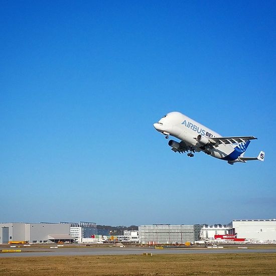 Take off at Airbus Base Hamburg Finkenwerder Nofilter Picoftheday Beluga Plane Welovehh Elbe Transportation Traffic Vehicles