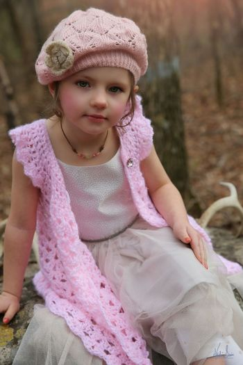 Little Girl Hats Portrait Child Blond Hair Childhood Girls Looking At Camera Pink Color Smiling Crown Knitted  Princess Crochet The Portraitist - 2019 EyeEm Awards