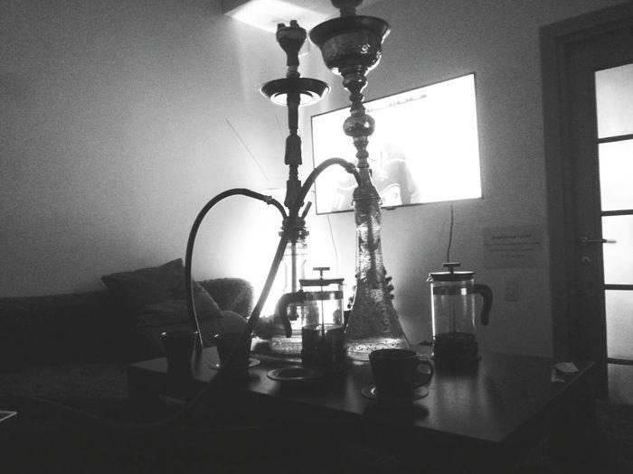 Relaxing Shisha Smoking Hookah