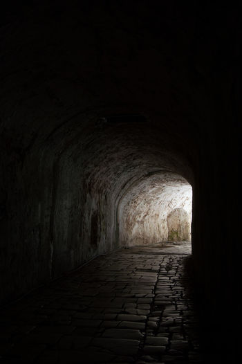 Tunnel Dark No People Indoors  Night Travel Destinations Korfu Man Made Object Built Structure Architecture