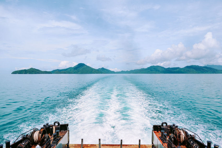 On The Way Cruising Ferry Boat Island Island Hoping Journey Langkawi Island Malaysia Logistic Nautical Vessel Ocean On A Trip Scenics - Nature Sea Sea Travel Ship Transportation Travel Travel By Sea Travel Destinations Vacation Waves