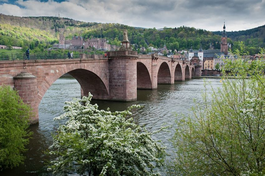 2017 Germany Heidelberg Bridge - Man Made Structure Connection Arch Bridge Viaduct Architecture Arch Built Structure River Water Cloud - Sky Nature Transportation Outdoors Day Mountain Tree Sky No People Beauty In Nature The Week On Eyem GERMANY🇩🇪DEUTSCHERLAND@ Travel Photography Heidelberg