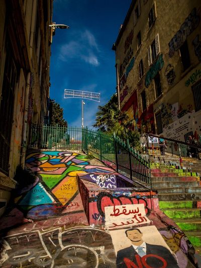 Outdoors Multi Colored Art De Rue Street Art Graffiti Streetphotography Marseille Lovemycity Stairways