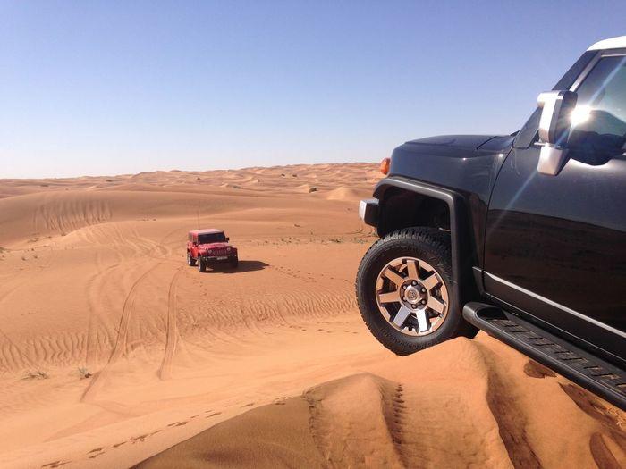 Landscape Horizon Ocean Sky Dubai UAE Car Jeep Desert Tourism Deserts Around The World Motorsport Offroad Jeep Wrangler  Sand