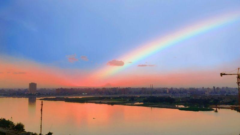 Sky season. Thisisegypt Egypt NileRiver Sky City Cityscape Rainbow Beauty In Nature Nature Sunset first eyeem photo