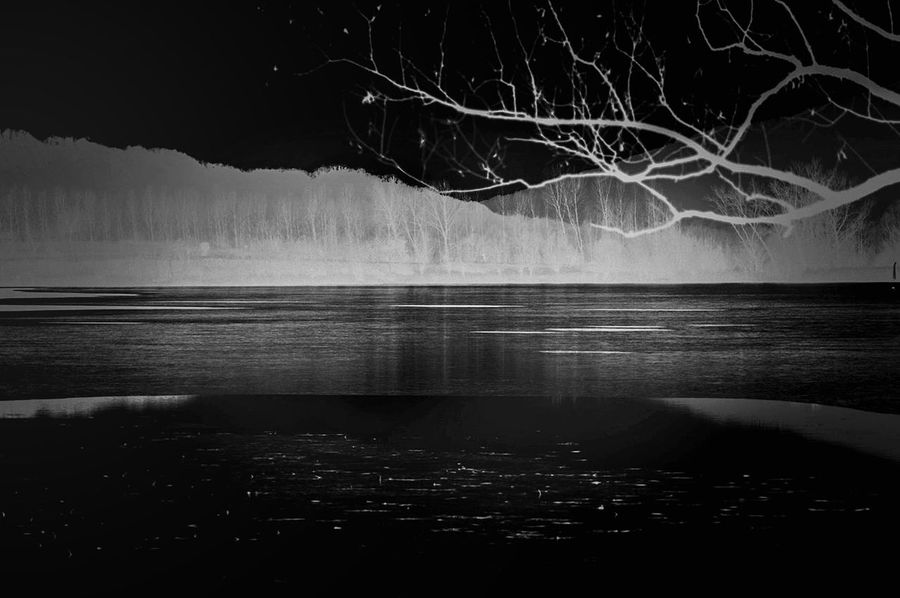 Black And White Place of Heart Fine Art Photography Blackandwhite Bnw Monochrome Bw Monochrome Lake Mood White EyeEm Best Shots Eye4photography  Photooftheday Abstract Night Dream