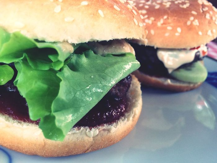 Something delicious Burger Food And Drink Food Hamburger Ready-to-eat Lettuce Sesame Seed