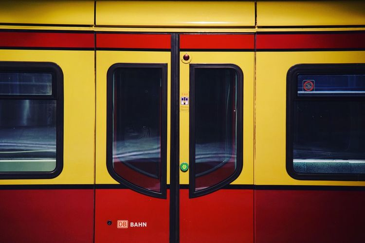 Berlin Train Train Station Red Yellow