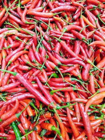 Red Full Frame Food And Drink Abundance Backgrounds Food For Sale Freshness No People Day Outdoors Close-up Healthy Eating Chillies Red