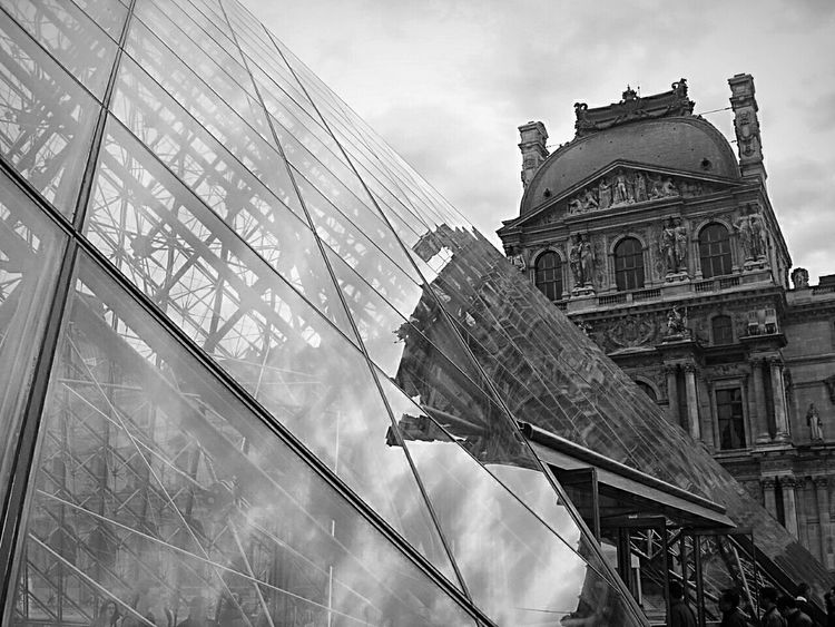 Architecture Low Angle View Built Structure City Reflection Day History Capital Cities  Majestic Paris Paris Lovre