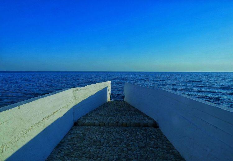 Sky Water Sea Blue Horizon Over Water Horizon Nature