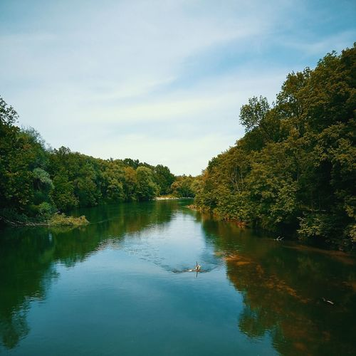 Isar Bavaria Bayern River Nature Spring Summer Germany Tree Water Swimming Lake Reflection