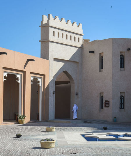 katara cultural village, doha,qatar Katara Cultural Village Qatar Doha,Qatar Cultures Culture Hertitage Travel Tourism Arab Gulf Building Exterior Architecture Building Outdoors Built Structure Real People Nature Day People Sunlight Place Of Worship Sky
