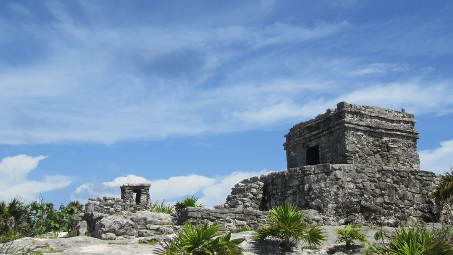 Tulum Rivera Maya Nature Photography Nature Sky History The Past Old Ruin Travel Destinations Tourism Cloud - Sky Famous Place Ruined Outdoors Blue Day