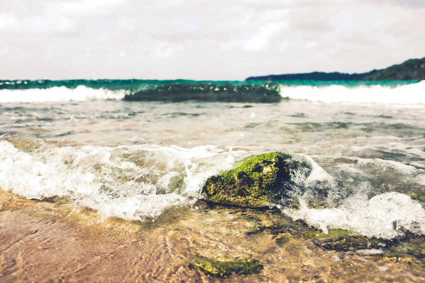 Beach Sea Sand Wave Nature Beauty In Nature Outdoors Water No People Day Horizon Over Water Cloud - Sky Scenics Tide Landscape Sky Close-up EyeEm Phillipines Abagatanen Agno Pangasinan, Philippines