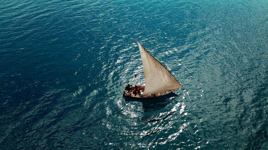 Fisherman Boat Africa Village Water Nautical Vessel High Angle View Transportation Mode Of Transport Outdoors Sea Nature