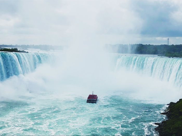 Niagara Niagara Falls Water Beauty In Nature Motion Scenics - Nature Waterfall Nautical Vessel Transportation Travel Flowing Water Power In Nature