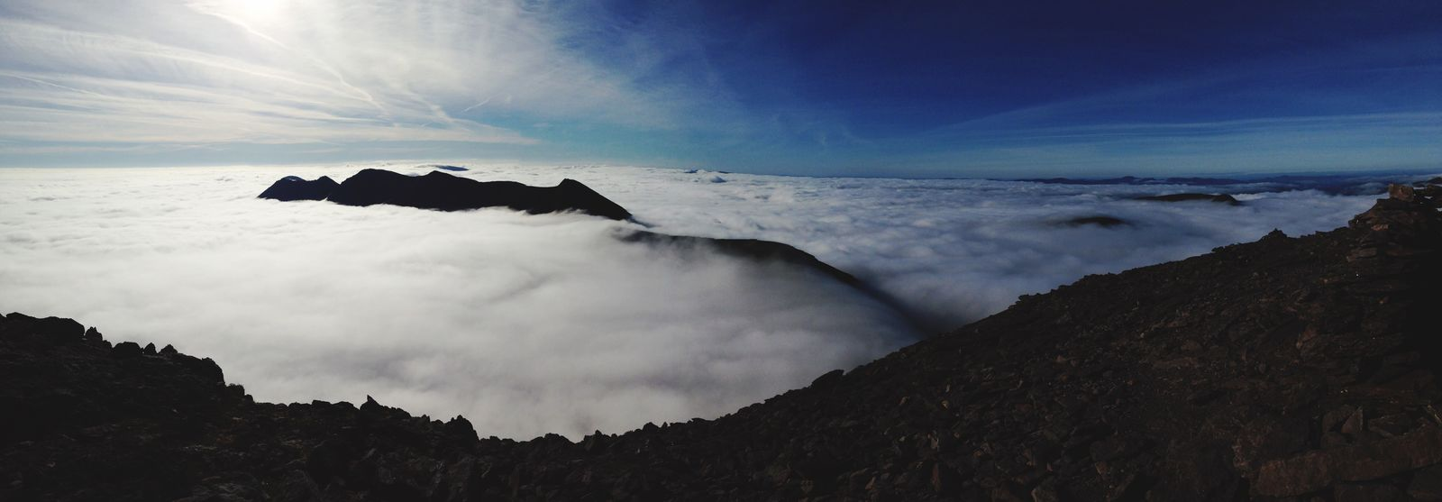 Panaromic View Panoramic Landscape Clouds And Sky Up In The Clouds Ireland Carrauntoohil