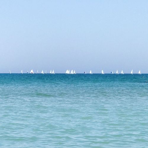 Sea Water No People Transportation Day Waterfront Nautical Vessel Outdoors Clear Sky Blue Freight Transportation Scenics Sky Nature Sailboat Copy Space Blue Sea Shades Of Blue Sailing