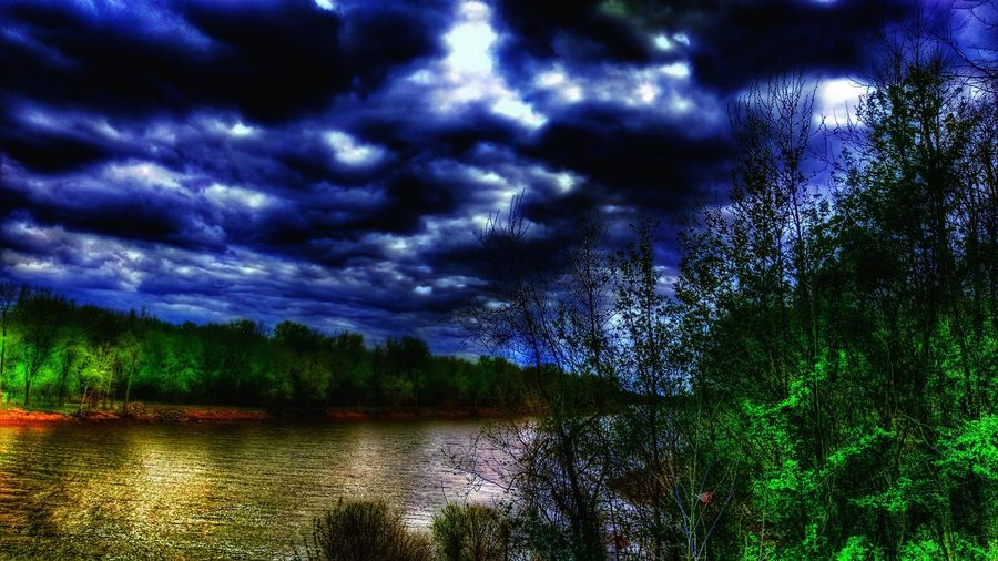 The Impurist Meramec River Of Murder Eye Am Nature Head In The Clouds Black And Blue Darkness And Light A River Runs Through It Treescape Show-me-state Of Mind Into The Darkness Into The Nothing Stormembracing
