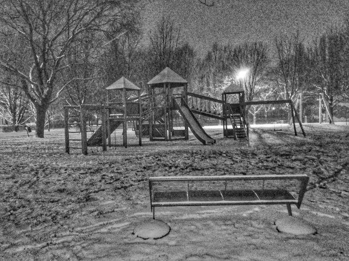 Blackandwhite Nightphotography Night Publicpark Italy🇮🇹 Mirano Streetphotography Snow Cold Temperature Freshness Eyeemphotography Lovesnow Ice