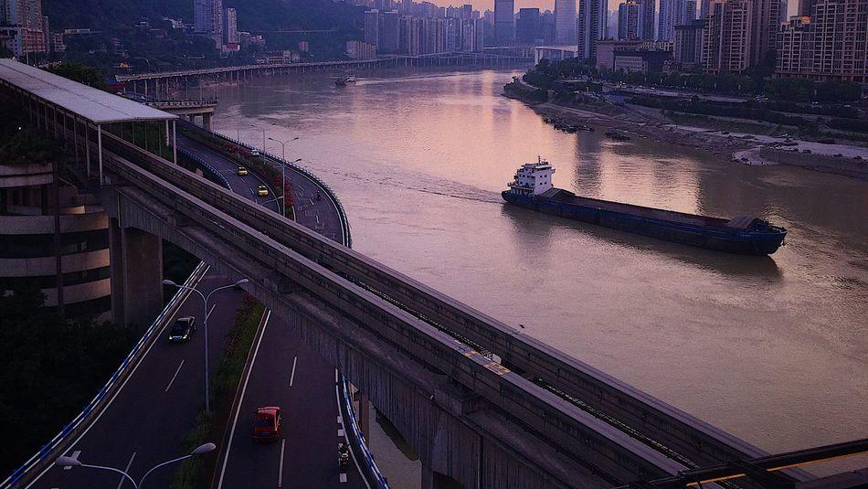 文艺重庆 | 078 Iphone6plus Water Architecture Nature City Built Structure High Angle View No People