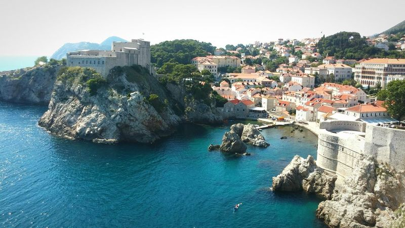 Kroatia Sommer Holidays Traveling Dubrovnik Coast Sea Seaside City Beautiful Landscape