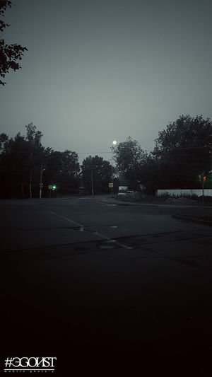 луна в утренней Костроме Tree Reflection Sky Monsoon