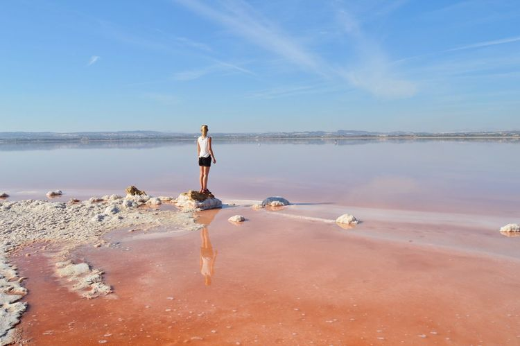 Pink SPAIN Salt SaltLake TRVEL Torrevieja Traveling Beauty In Nature Cool Place Horizon Over Water Nature One Person Pink Lagoon Pinklake Sky Vacations Women