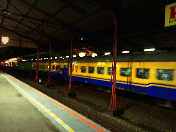 Going back to Jakarta by train Public Transportation Night Train Good Weather Executive