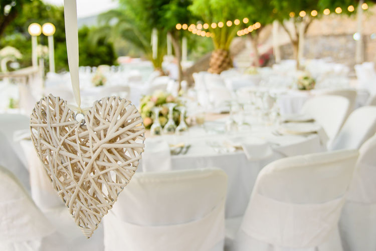 White wooden heart as wedding decoration. Exclusive  GREECE ♥♥ Kalamata,Greece Lovely Day Wedding Wedding Venue Decorated Elégance Evening Heart Heart Symbol Luxury Table True Love Wedding Ceremony Wedding Day Wedding Decoration Wedding Detail Wedding Party