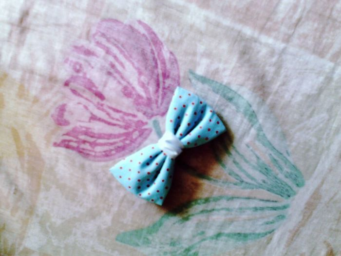 Flower Blue Ribbon Polka Dots ♥ 😁🍀🌸 First Eyeem Photo