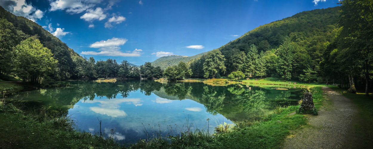 Backgrounds Beauty In Nature Cloud - Sky Day Idyllic Lake Landscape Natural Parkland Nature No People Outdoors Reflection Reflection Lake Scenics Sky Tranquil Scene Travel Destinations Tree Water