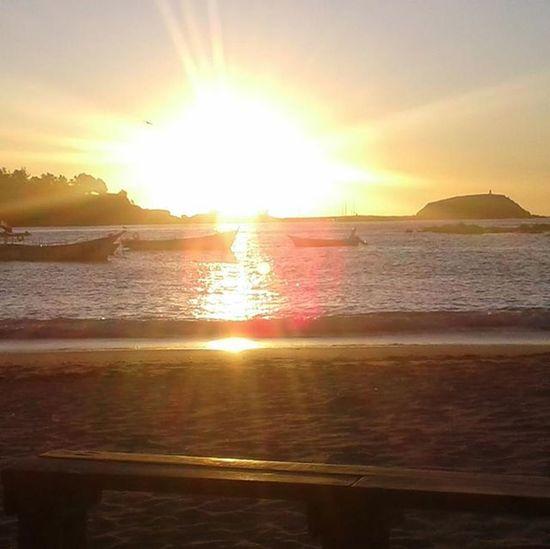 Hermoso. Landscape Paisaje Playa Beach Algarrobo Lasconchitas Puestadesol Nofilter