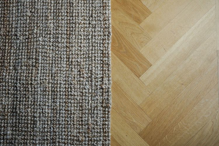High angle view of rug on floor at home