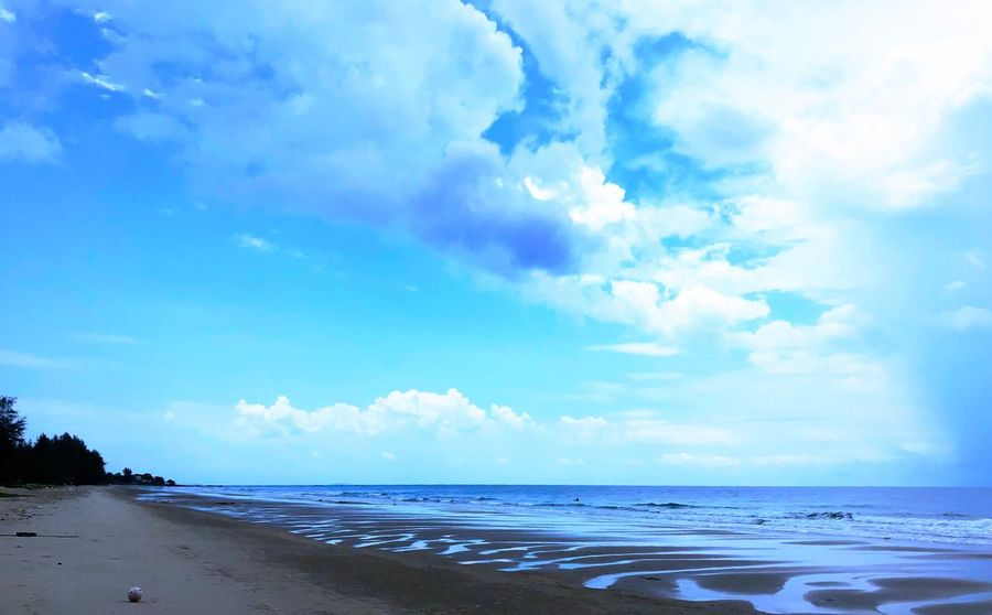 Sea Sky Water Cloud - Sky Beach Land Beauty In Nature Scenics - Nature Horizon Over Water Horizon Tranquil Scene Tranquility Day Nature Non-urban Scene No People Sand