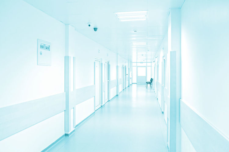 Hospital corridor Clinic Clinical Corridor Day Emergency Empty Health Care Hospital Indoors  Interior Lifestyle Lifestyles Medicine No People Operating Room Surgery