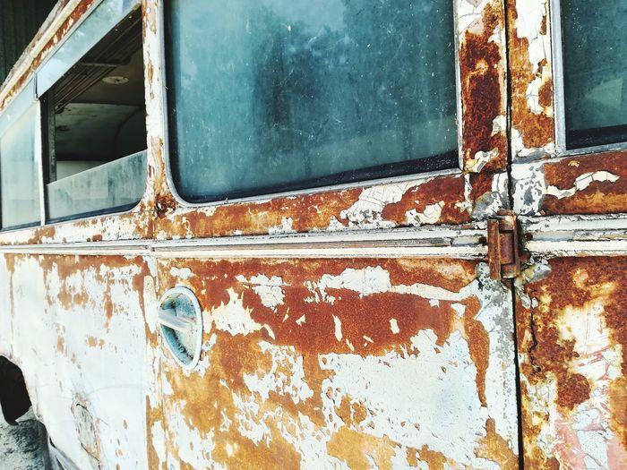 Full frame shot of rusty metal window