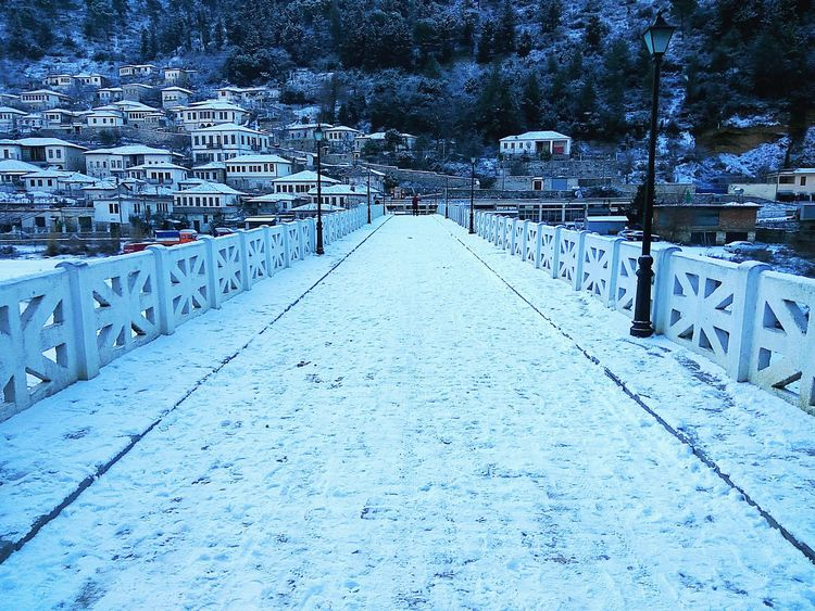 Bridge Of Gorica Snow Cold Temperature Winter City Snow Snow On Hill Early Morning Outdoors Visit Albania 2017 Travel Destination Travel Tourist Attraction  Smartphonephotography Bridge View Berat, Albania White Houses Snow Covered Snow ❄ Hills Architecture Houses On Hill UNESCO World Heritage Site City Traveling Destinations Unesco World Heritage The City Light Minimalist Architecture
