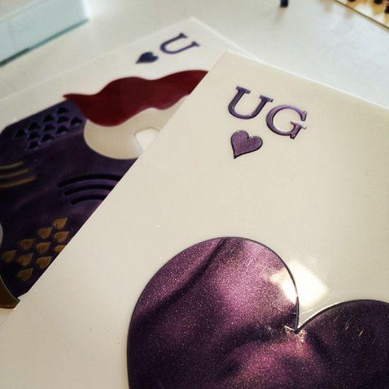 My Queen finally!!!! New season!!!! Purple love ? Uraniagazelli Purplelove Ug Initials handmade ss14 newseason