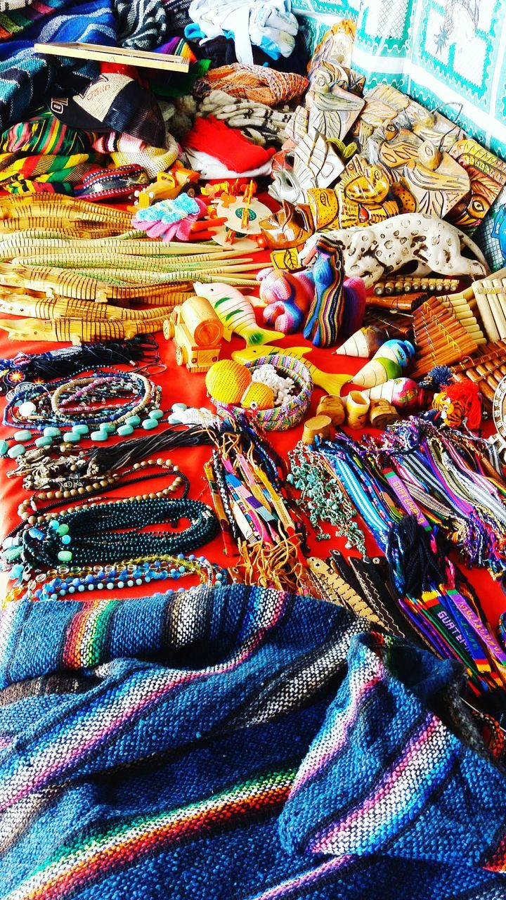 large group of objects, variation, multi colored, no people, heap, textile, choice, indoors, day, close-up