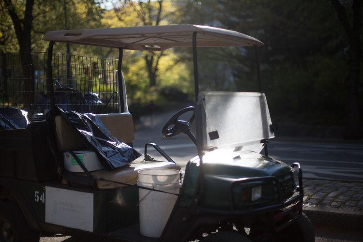 Golf Cart On Footpath