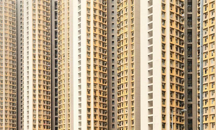 Full frame shot of modern buildings in city