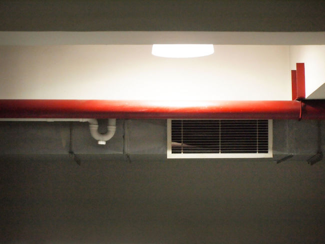 Light Parking Garage Airconditioning Garage Garage Light Illuminated Indoors  Light And Shadow Parking Pipe Red Pipe Vent Ventilation Ventilation Grille Ventilation Pipes