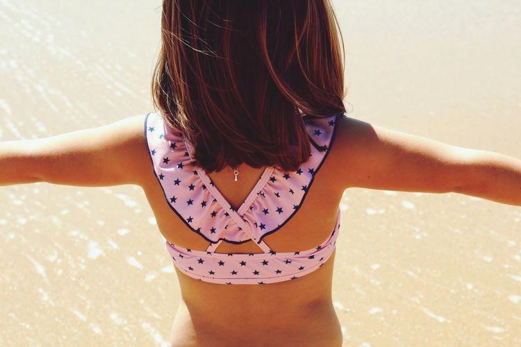 Girl enjoying holiday at beach