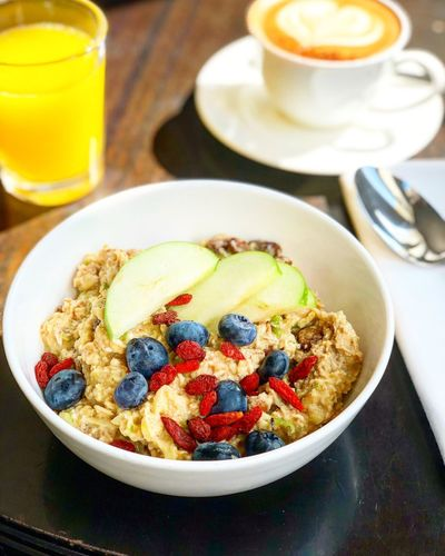 BIRCHER MUESLI Foodphotography Food Foodieseyeem Foodie Healthy Bowl Berlin Life Berlin Mitte Healthy Eating Breakfast Soho House Bircher Bircher Müsli Food And Drink Drink Food Breakfast Healthy Eating Refreshment Table Freshness Fruit Coffee Cup Bowl Breakfast Cereal