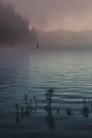 A fisherman in