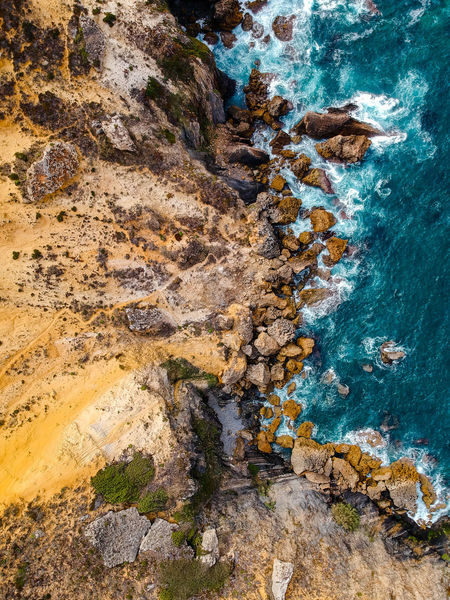 Drone  Nature Nature Photography Portugal Rock Tranquility Aerial View Beauty In Nature Cavaleiro Cliff Day Dronephotography High Angle View Nature_collection No People Ocean Outdoors Photography Physical Geography Rock - Object Rock Formation Sea Seascape Tranquil Scene Water