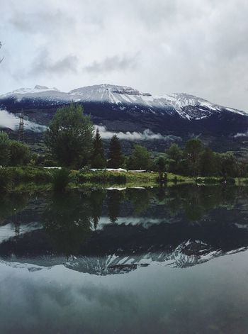 Landscape Switzerland Mountains Snow Clouds Lake Nature Early Morning Exploring Green Sky Water Reflection Nature's Diversities